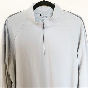 Adidas Climalite Gray Half Zip Pullover Size L